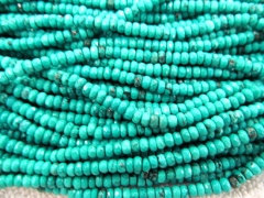 top quality 3x6mm 5strands turquoise beads rondelle abacus faceted jewelry bead
