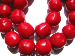 2strands 10-20mm high quality Genuine Coral beads nuggets freeform drum rondelle loose bead