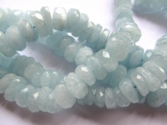 high quality Genuine Aquamarine Beryl gemstone freeform nuggets Rondelle Faceted Blue beads 8-16mm f