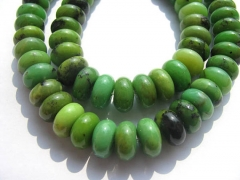 high quality 2strands 3-12mm natural green chrysoprase gemstone Australia jade stone heishi rondelle abacus round loose bead