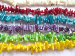 Batch 5strands 8-20mm Coral freeform chips spikes green Red black white purple Bamboo Coral beads
