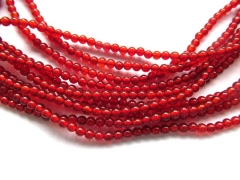 AA Grade 5strands 2 3 4 6 8 10mm Natural Carnelian Agate Gem Round Ball Red Black White Bead