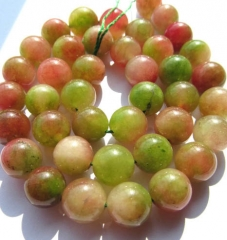 8 10 12mm 16inch jade gergous round ball green cherry clear charm jewelry bead