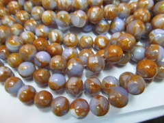 6-12mm 5strands high quality calsilica bronze agate turquoise beads round ball jewelry beads