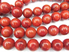 wholesale 5strands 6-16mm natural Sponge Coral gergous round ball Tango Orange red jewelry bead
