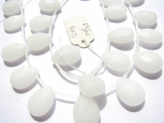Jade stone 2strands 7-14mm natural Jade Beads teardrop drop faceted clear white blue pink green mixe