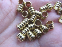 Top Quality--100pcs 6x8mm 14K gold Round ball carved spacer Beads Solid Silver,antique silver,gold,r