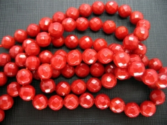 high quality 2strands 6 8 10mm Coral Beads,Bamboo Coral round ball faceted hot red ,pink red, orange