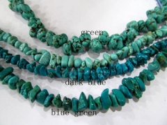 wholesale discount 10strands 4-12mm turquoise stone chips freeform bamboo jewelry beads