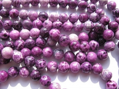 Wholesale 2strands 4-16m sugilit Jade Beads Round Ball polished purple black Asssortment j