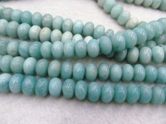 2x4 3x5 4x6 5x8mm full strandStunning blue amazonite faceted rondelle beads