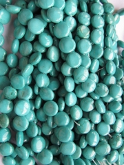 free ship--5strands 6-12mm turquoise roundel coin disc green turquoise beads