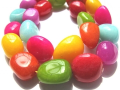 wholesale 2strands 8-25mm Rainbow jade bead freeform nuggets chips jewelry loose beads