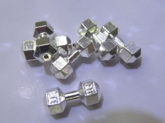 50pcs 22mm 18K Solid Gold Live Lift Dumbbell Charms Antique Silver gold gumetal mixed Tone 3D Fitnes