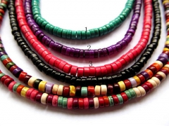 lot turquoise beads rondelle abacus green pink hot red blue oranger black mixed jewelry beads 3x6mm-