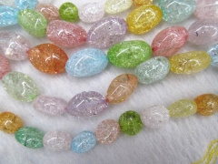 2strands 10-35mm high quality Genuine Quartz rock crystal Freeform Egg Nuggets Green blue yellow pin