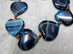 wholesale 5strands 40mm agate bead heart peach blue yellow red assortment jewelry pendant