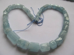 Aquamarine Beryl gemstone Aquamarine necklace column tube hexagon  faceted jewelry beads 8-25mm 18inch