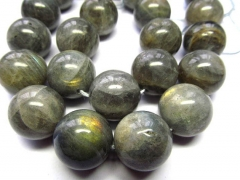 high quality 4-20mm full strand genuine labradorite beads , round ball shiney blue jewelry beads