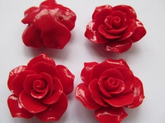 20 25 30 36mm full strand fashoin resin plastic rose florial petal black jet white hot red peach ass