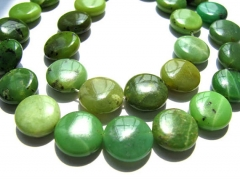 2strands 8-16mm genuine chrysoprase beads roundel coin green olive