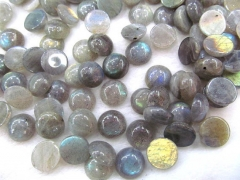high quality genuine labradorite cabochons,roundel coin disc 10-12mm 12pcs