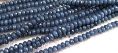 30%off-- 2strands 3x5-10x16mm Jade Rondelle Abacus Faceted Beads Sapphire Blue Black White Oranger P