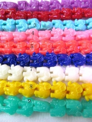 5strands 12x14mm  resin/plastic/acrylic gergous charm bead animal elephant handmade asso