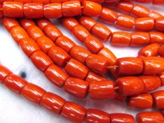 high quality ocean coral 8x12mm full strand ,barrel drum column brown red mixed jewelry beads