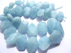 Genuine Aquamarine Beryl gemstone Aquamarine high quality oval freeform slab nggets marquise faceted