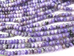 High quality Natural Charoite for making jewelry Rondelle wheel Abacus purple loose bead 3-10mm