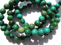 5strands 6-12mm high quality turquoise beads round ball coffee green jewelry beads