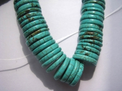 2strands 10-16mm turquoise stone heishi green jewelry beads