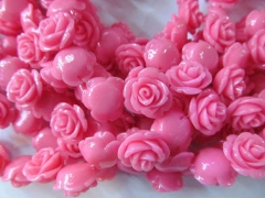 fashion resin plastic 15mm 100pcs--high quality rose florial petal baby pink red assortment color je