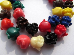 2strands 12-20mm gergous acrylic resin plastic buddha carved charm jewelry beads