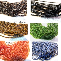 10strands 3 4mm genuine garnet rhodolite lapis agate only tiger eye jade assortment beads round ball