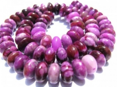 5strands  4x6 5x8 6x10mm jasper stone rondelle purple pink jasper gemstone jewelry beads