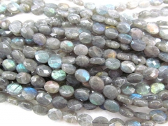 high quality Genuine Labradorite gemstone oval egg faceted jewelry beads 8x12mm