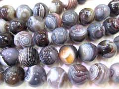 high quality 20mm full strand 16inch agate bead round ball grey gray botswanta ssortment jewelry bea
