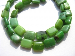 2strands 8-20mm genuine chrysoprase beads  ablong rectangle green olive