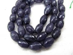 5strands Sapphire blue Jade Rice Faceted Beads Supplies Oval Beads Spacer beads for Jewelry Making 4