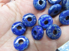 Larger Hole--natural lapis Botswana Agate Labradorite rondelle button abacus pinwheel 6x12mm 12pcs
