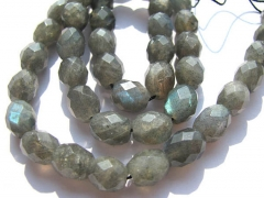 5strands 8x12mm genuine labradorite beads high quality rice barrel egg faceted bl