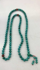 108pcs buddhism turquoise coral round ball necklace chain beads