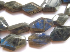 larger 18-28mm full strand Natural Labradorite for making jewelry freeform slab nuggets diamond face