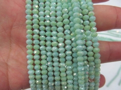 Unique 5strands 4x6 5x8 6x10mm Crystal like czech bead Rondelle Abacus Faceted Ocean blue green mixe