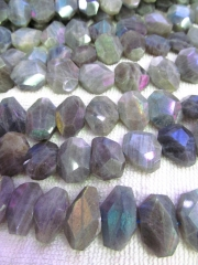 10-25mm full strand wholesale genuine labradorite beaded freeform nuggets slab faceted blue jewelry