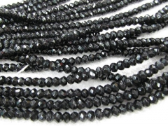 black jet crystal 5strands 3x4 4x6 5x8 6x10mm Crystal like czech bead Rondelle Abacus Faceted loose
