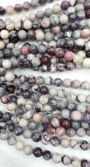 2strands 6 8 10 12mm Assortment Natural Jasper stone Round Ball purple Zebra brown grey black loose