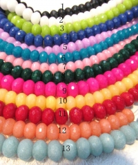 3x5-12x16mm 5strands 16inch,rondelle abacus faceted lapis blue mixed jade charm beads jewelry beads